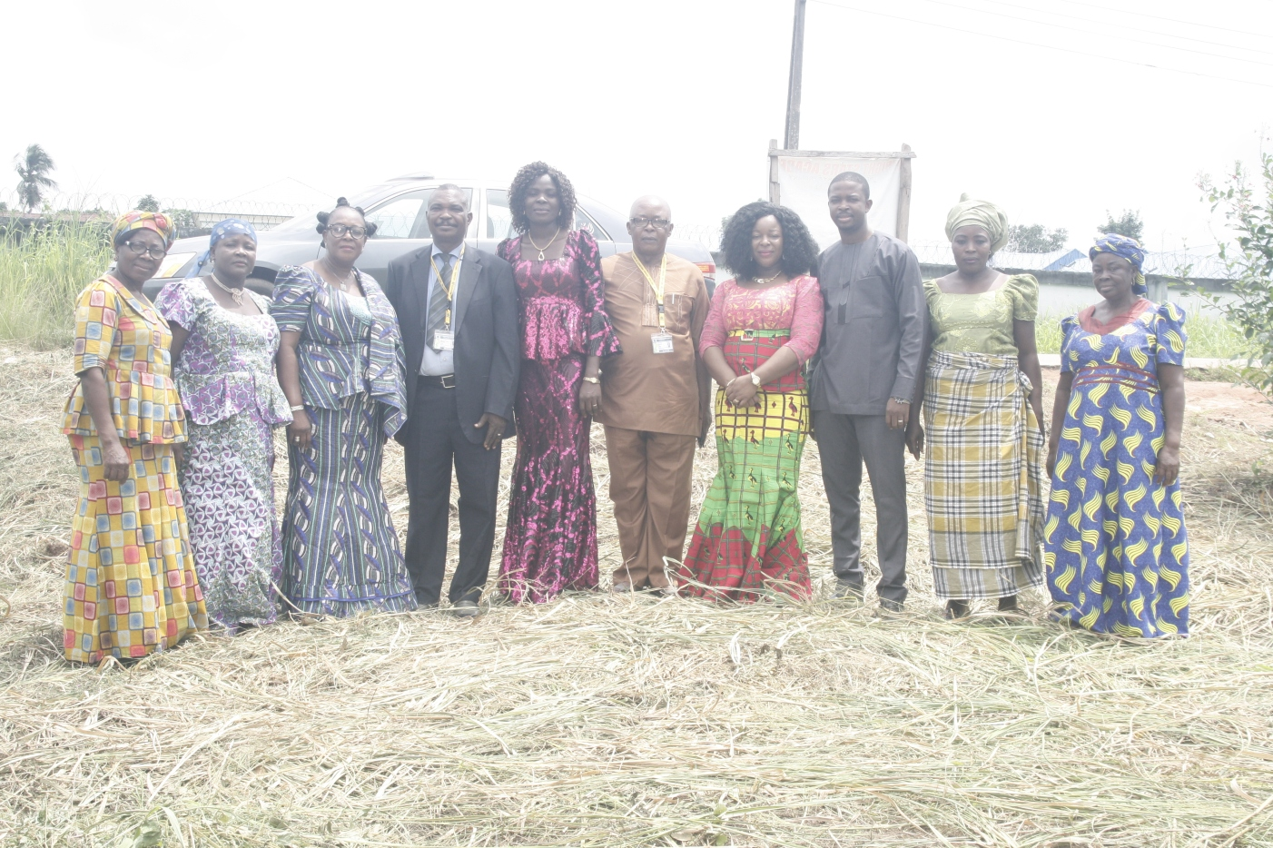 NGO officials with women leaders in Afugiri community, Abia State